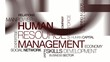 HRM Human resources management HR tag cloud animation