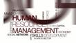 HRM Human resources management HR tag cloud animation