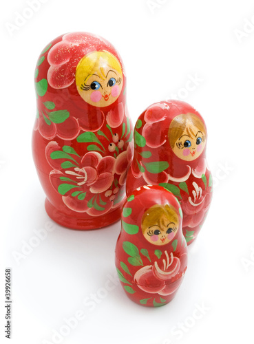 family of wooden toys