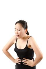 Woman abdominal pain.