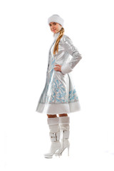Charming Snow Maiden. Isolated