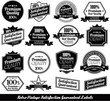 Collection of premium quality Labels with retro design