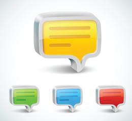 Colorful 3d bubble speech icon