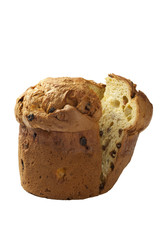 panettone on white background isolated