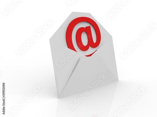 Briefumschlag mit rotem @