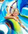 Child in water park.