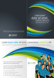 Fototapety Blue, green and black template with business people