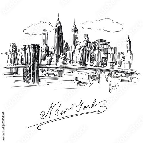 Fototapeten,new york,manhattan,skyscraper,hauptstädtisch