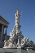 Wien - Pallas Athene Brunnen / Statue vor dem Parlament