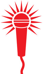 Vector Classic Microphone Symbol (Microphone Icon)