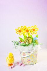 Chick and Easter Basket