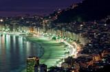 Fototapety Night view of Copacabana beach. Rio de Janeiro