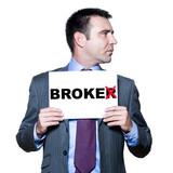 Portrait of mature bankrupt broker poster