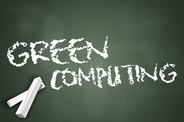 "Chalkboard ""Green Computing"""
