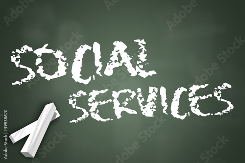 "Chalkboard ""Social Services"""
