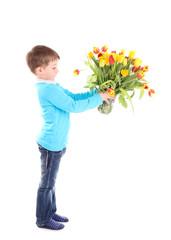 18.3.2012 Junge mit Tulpen