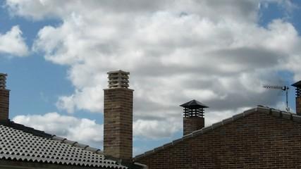 Chimeneas en el tejado, timelapse