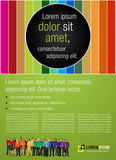 Fototapety Colorful template for advertising with rainbow colors people
