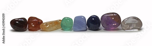 canvas print picture Row of Chakra Stones