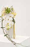 white flower arrangement for wedding bouquet
