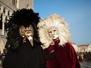 Couple at Venice carnival 2012