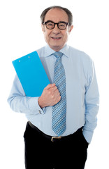 Welldress corporate person holding document