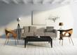 Vintage village interior living room whirw floor