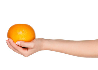 Hand with grapefruit