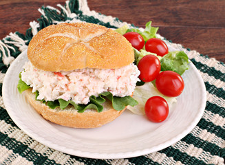 Seafood Salad Sandwich on Hard Roll