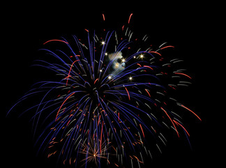Fireworks in Red, White and Blue