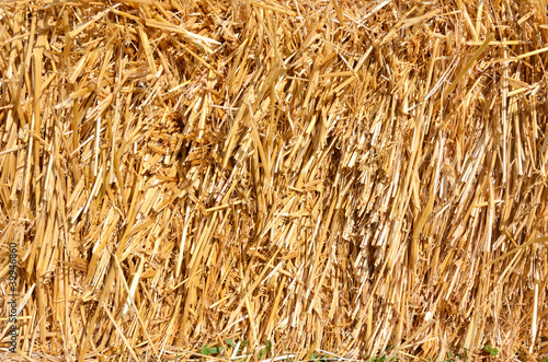 close up of straw as background or texture