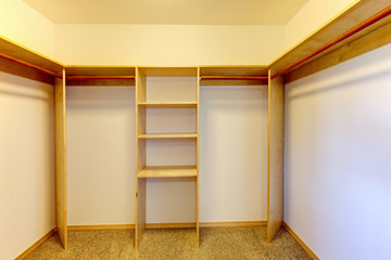 New empty closet room.
