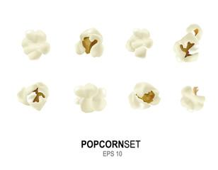 Vector popcorn set