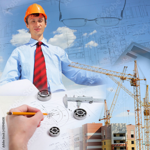 Construction industry collage