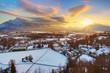 Salzburg at sunset - Austria