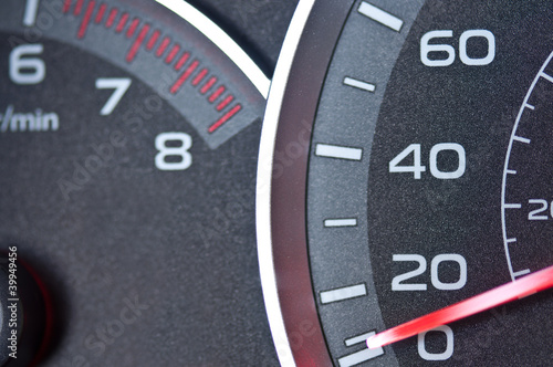 Poster Car Speedometer and tachometer