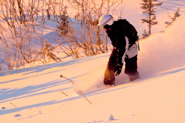 Snowboard freeride in Siberia