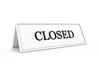 a sign saying closed