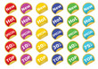 collection of color stickers vector illustration