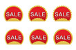 set of sale stickers vector illustration