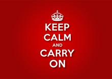 Gardez votre calme et continuez
