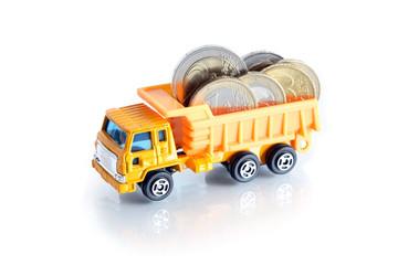 Dump Truck With Money
