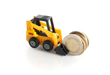 Forklift Truck With Money