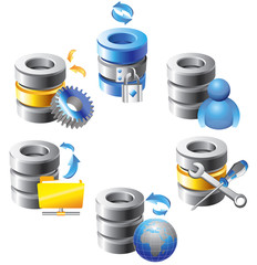 Database - Web Hosting Icons