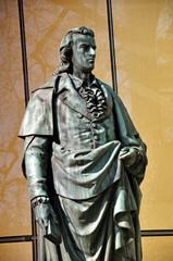 The statue of Friedrich Schiller in Salzburg, Austria