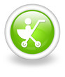 "Light Green Icon ""Stroller"""