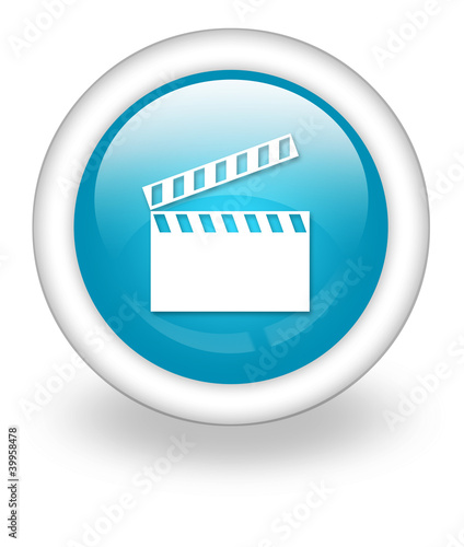 "Light Blue Icon ""Clapperboard"""