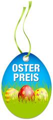 Hangtag Osterpreis Ostereier blau