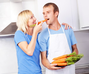 couple with carrot