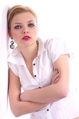 Fashion Portrait of beautiful business woman
